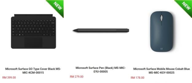 Microsoft Surface Go Accessories Price Malaysia