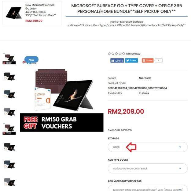 Microsoft Surface Go Bundle Price Malaysia 1