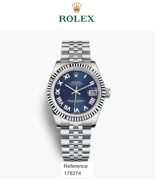 Rolex 31mm White Gold Fluted Bezel 178274