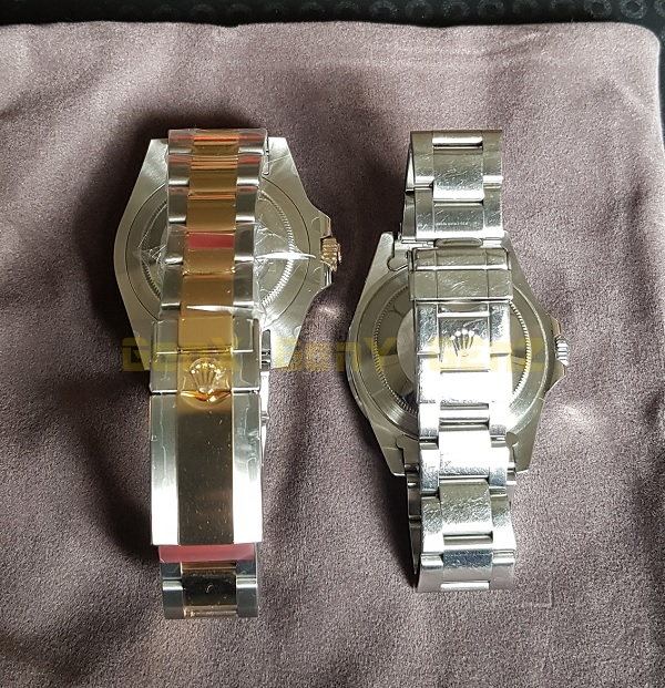 Rolex GMT Half Gold 2018 versus Pepsi GMT 1997 Rear