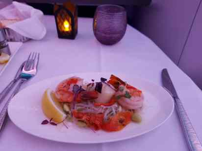 Qatar Business Class Food 2