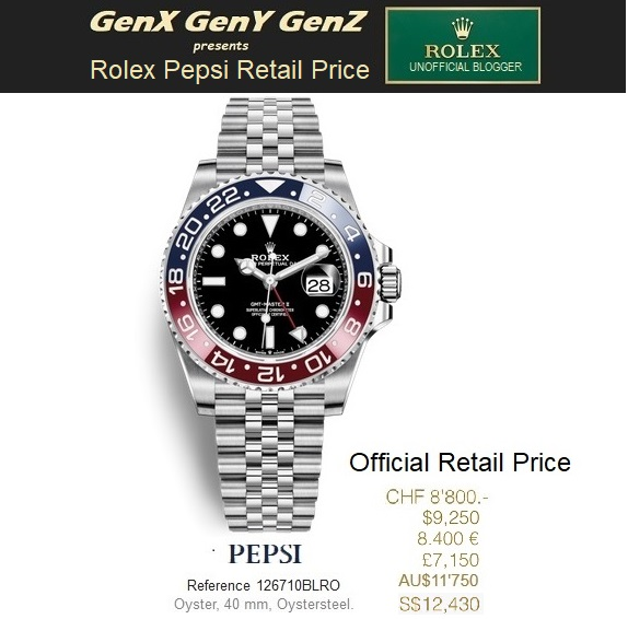 Rolex GMT Master II Pepsi 126710BLRO Retail Price Australia Switzerland USA France UK Singapore.jpg