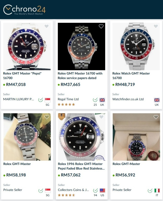 Rolex GMT Master Pepsi 16700 Price Malaysia