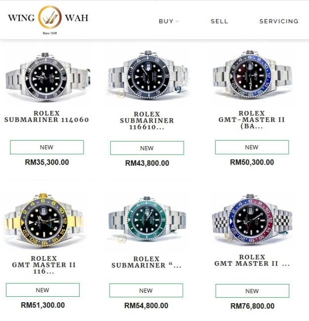 Rolex Submariner Hulk  GMT Master Batman Pepsi Price Malaysia 2018 2019.jpg