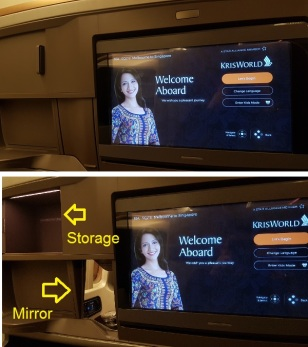 business Class Singapore Airlines Melbourne Window Seat 3