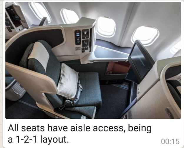 Cathay Pacific Airbus A330 Singapore to Hong Kong Business Class Top view.jpg