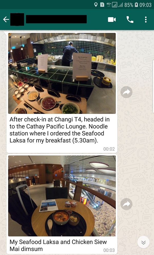 Cathay Pacific Business Class Lounge Singapore 1