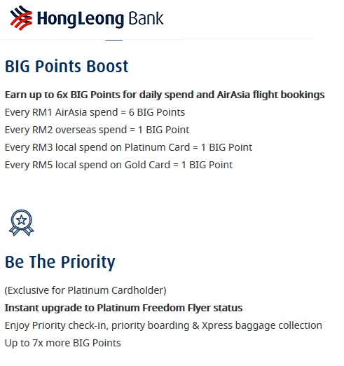 HLB AirAsia Visa Credit Card Benefits