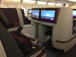 Qatar Airways Airbus A330 Warsaw to Doha 1