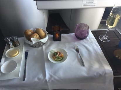 Qatar Airways Airbus A330 Warsaw to Doha Menu 2