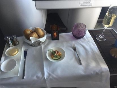 Qatar Airways Airbus A330 Warsaw to Doha Menu 2