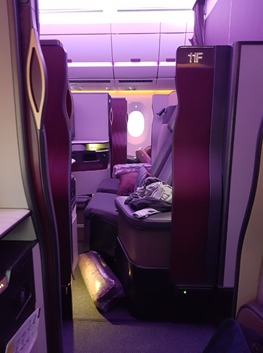 Qatar Airways Q Suite to Grankfurt