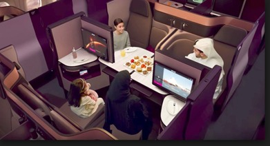 Qatar Airways Quad Seats