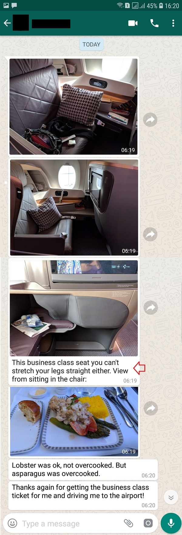 Singapore Airlines Airbus A350 Business Class seat Live Report