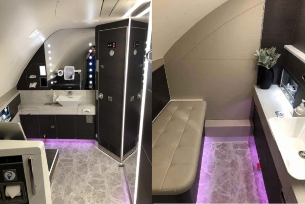 Singapore Airlines Aribus A380 New Suite Toilet