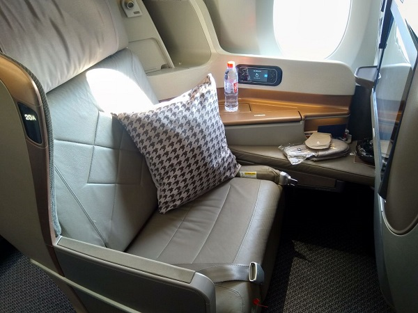 Singapore Airlines Business Class Airbus A350 Dusseldorf to Singapore 1