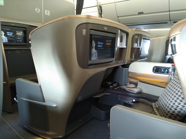 Singapore Airlines Business Class Airbus A350 Dusseldorf to Singapore 2