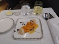 Singapore Airlines Business Class Airbus A350 Dusseldorf to Singapore Food 2