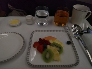 Singapore Airlines Business Class Airbus A350 Dusseldorf to Singapore Food 5