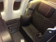 Singapore Airlines First Class to Paris Boeing 777 Seat 1