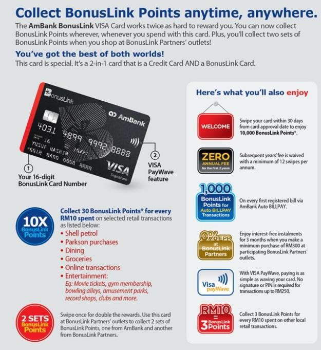AmBank BonusLink Visa Credit Card