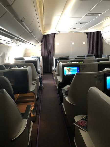Malaysia Airlines Buisness Class A350 Kuala Lumour London Review 1a