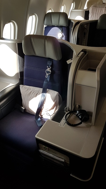 Malaysia Airlines Airbus A330 bulk Head Business Class.jpg