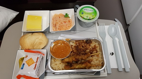Malaysia Airlines Airbus A330 Food KL to Melbourne