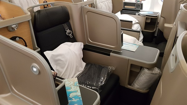 Qantas Business Class Airbus A330 Singapore to Melbourne 2