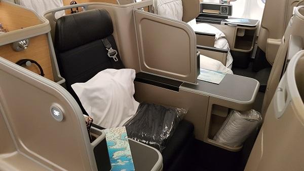 Qantas Business Class Airbus A330 Singapore to Melbourne 2