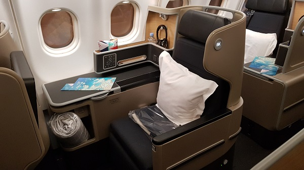Qantas Business Class Airbus A330 Singapore to Melbourne 3