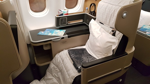 Qantas Business Class Airbus A330 Singapore to Melbourne 5