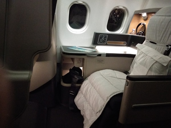 Qantas Business Class Airbus A330 Singapore to Melbourne 5a