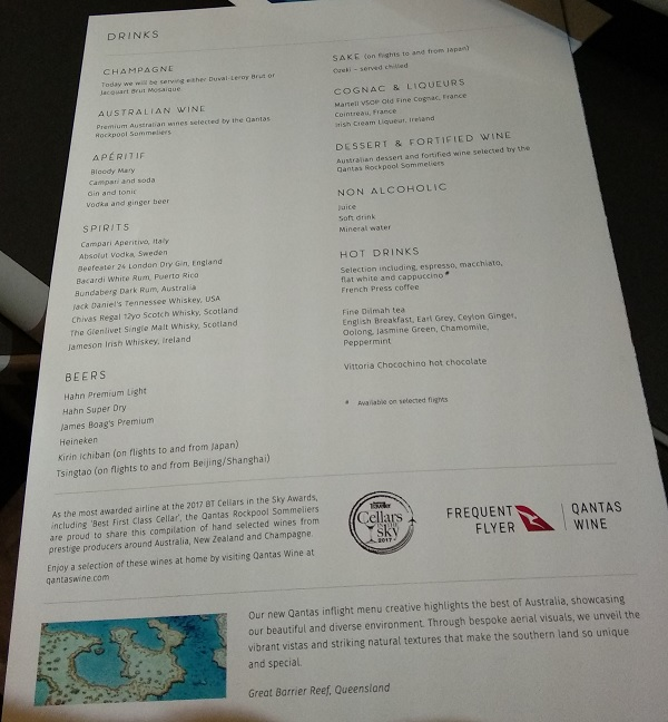 Qantas Business Class Airbus A330 Singapore to Melbourne Food Menu 5.jpg