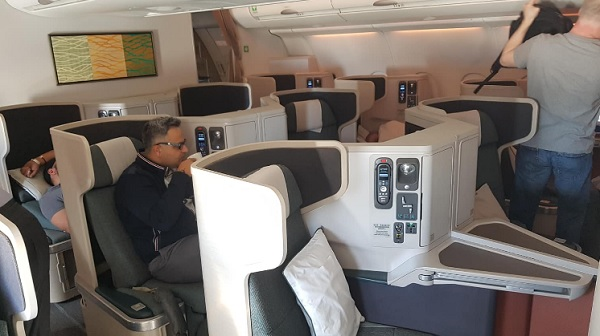 Cathay Pacific Business Class A330 Delhi to Hong Kong 3.jpg