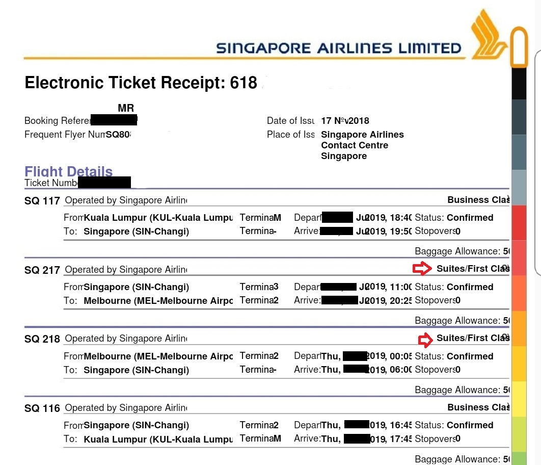 Singapore Airlines E Ticket Booking - United Airlines and ...
