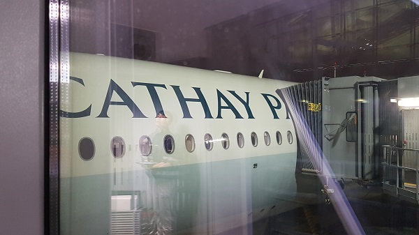 Cathay Pacific Airbus A350 Review Entrance to Plane