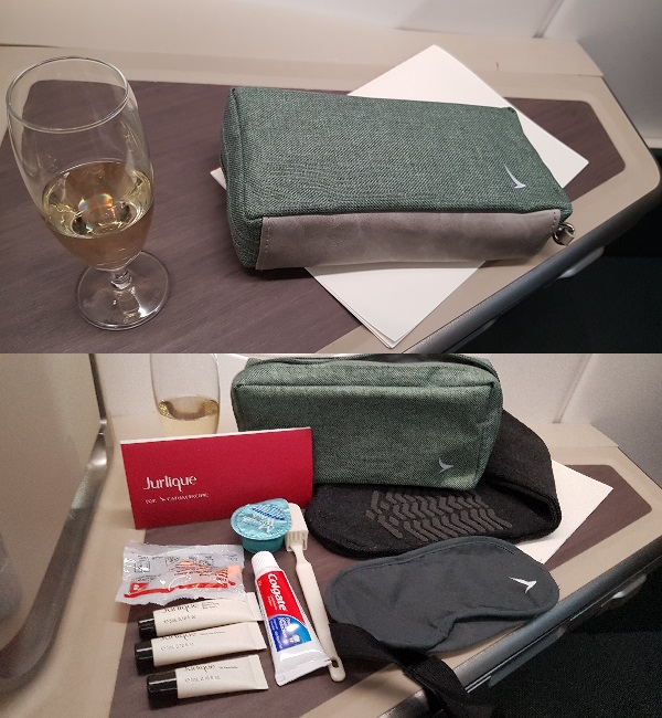 Cathay Pacific Business Class Airbus A350 Review Night Kit.jpg