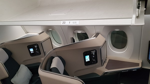 Cathay Pacific Business Class Airbus A350 Review Seat 20A 1a.jpg