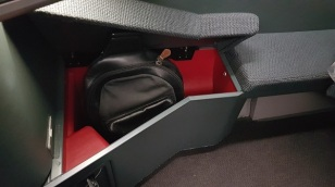 Cathay Pacific Business Class Airbus A350 Review Seat 20A Storage 2