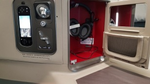 Cathay Pacific Business Class Airbus A350 Review Seat 20A Storage 34