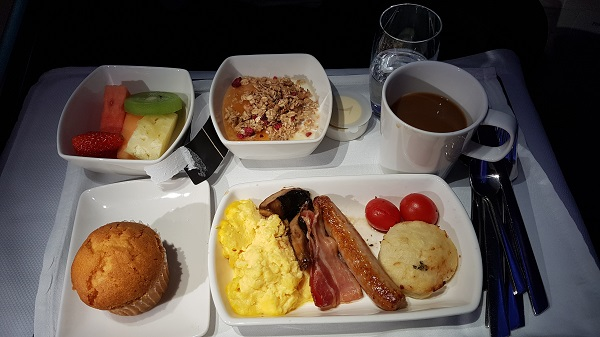 Cathay Pacific CX105 Business Class A350 Hong Kong to Melbourne Review In Flight Menu Breakfast