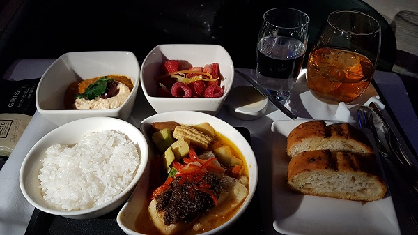 Cathay Pacific CX105 Business Class A350 Hong Kong to Melbourne Review In Flight Menu Supper.jpg