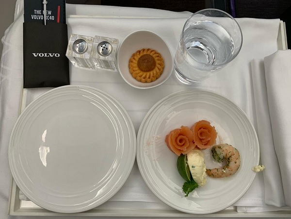 Malaysia Airlines Airbus A350 Business Class KL London Food 2