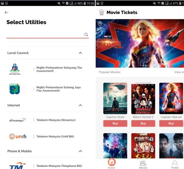Boost App Movie ticket telco Broadband