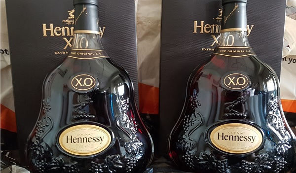 Hennessy XO Price at London Heathrow Airport Duty Free 2 bottles.jpg
