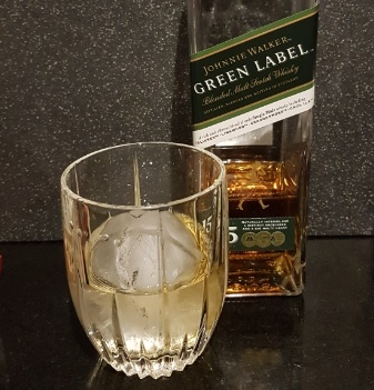Johnnie Walker Green Label with Ice Sphere