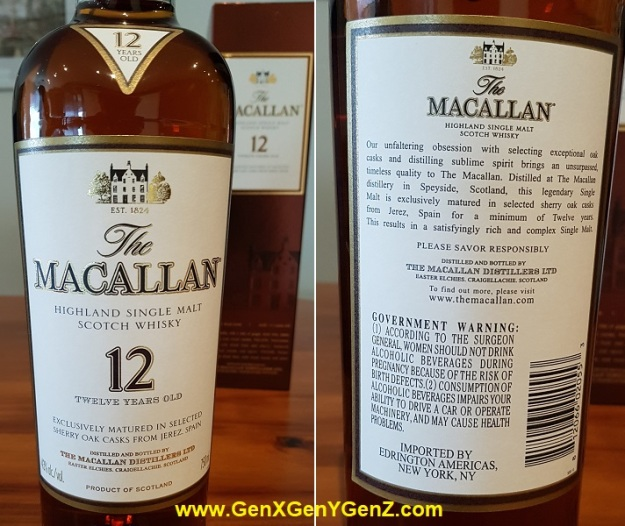 Macallan Sherry Oak Limited Edition 43 ABV 750ml 70cl Front and Back Label.jpg