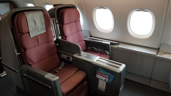 Qantas Airbus A300-800 Business Class Seat 1 2019