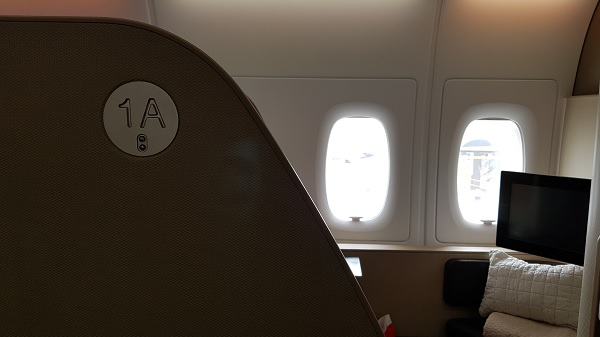 Qantas First Class Review Airbus A380 Seat 1A 1